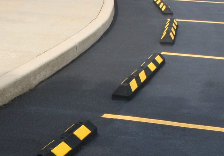 parking stop block installation
